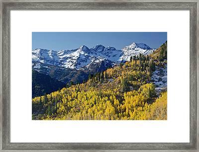 View Across Butler Fork Of Mount Framed Print