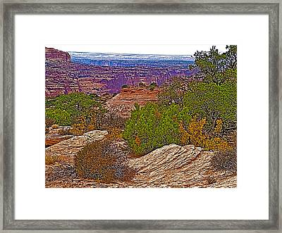 View Across From Visitor's Center In Island In The Sky District Of Canyonlands National Park-utah Framed Print by Ruth Hager