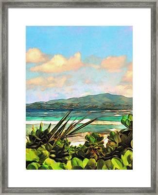 View Across Salt River - Vertical Framed Print