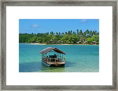 View Across The Bay To Oyster Island Framed Print by Michael Runkel