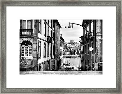 View Across The Douro Framed Print by John Rizzuto