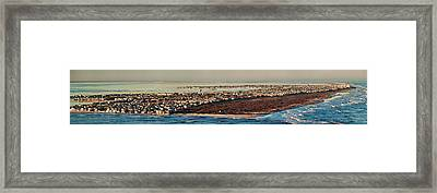 View Across The Inlet To An Island City Framed Print by Panoramic Images