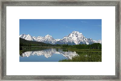 View At Oxbow Bend In Grand Tetons National Park Framed Print