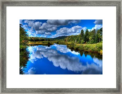 View At The Green Bridge - Old Forge New York Framed Print by David Patterson