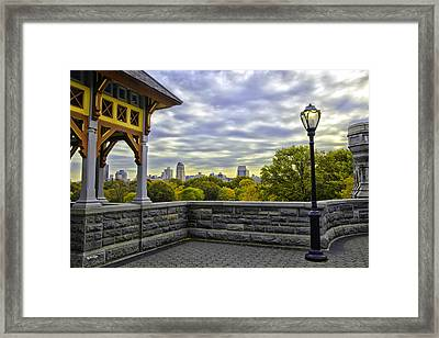 View By Belvedare Castle - Central Park - Nyc Framed Print by Madeline Ellis