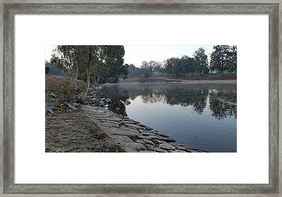 View By The Lake Framed Print