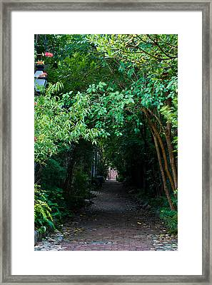 View Down Philadelphia Alley Framed Print
