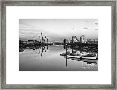 View Down The Clyde Mono Framed Print by John Farnan