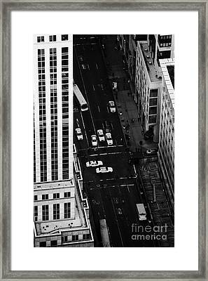 View Down Towards Fifth 5th Avenue Ave New York City Framed Print by Joe Fox