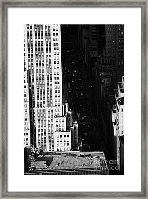 View Down Towards Fifth 5th Avenue Ave New York City Manhattan Streets Framed Print