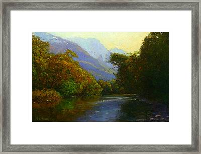 View Downstream Lower Holyford Framed Print