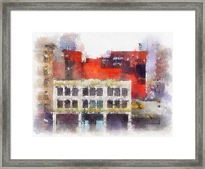 View From A New York Window Framed Print