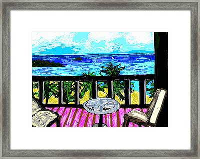 View From A Window Framed Print
