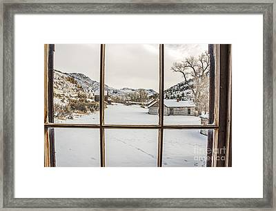 View From A Window Framed Print by Sue Smith