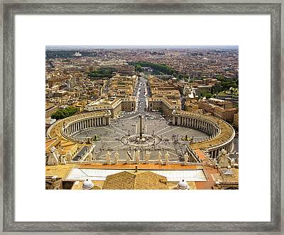 View From Above Framed Print by Andrew Soundarajan