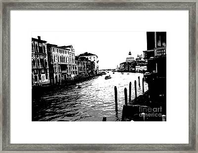 View From Accademia Bridge Framed Print by Jacqueline M Lewis