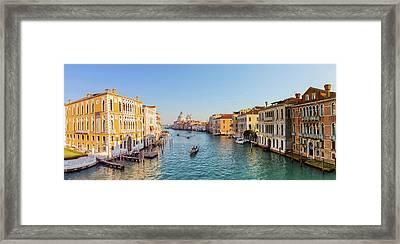 View From Accademia Bridge On Grand Framed Print by Dietermeyrl