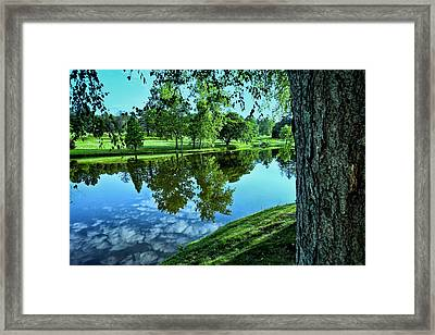 View From Accross The Lake Framed Print