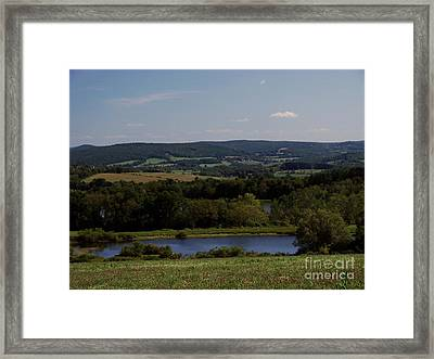 View From Amenia Framed Print