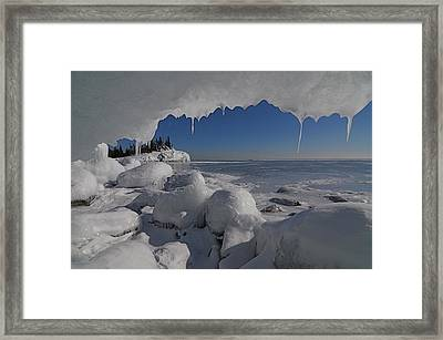 View From An Ice Cave Framed Print