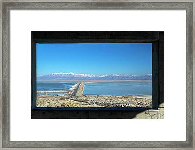 View From Antelope Island Framed Print by Jim West