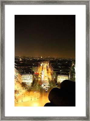View From Arc De Triomphe - Paris France - 011310 Framed Print