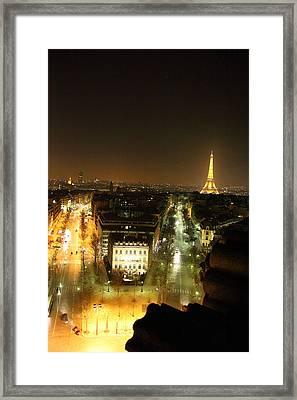 View From Arc De Triomphe - Paris France - 011312 Framed Print