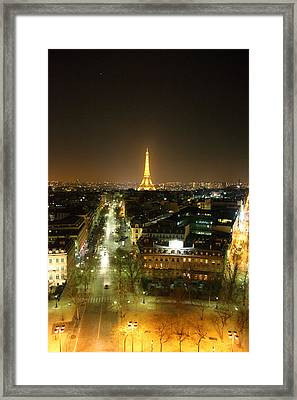 View From Arc De Triomphe - Paris France - 011313 Framed Print by DC Photographer