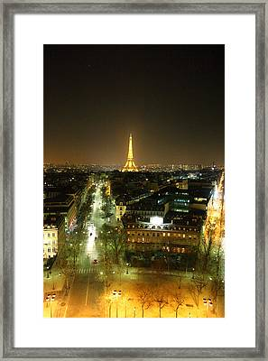 View From Arc De Triomphe - Paris France - 011314 Framed Print by DC Photographer