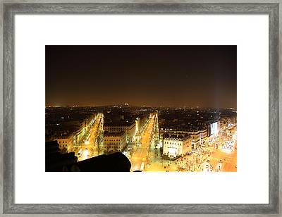 View From Arc De Triomphe - Paris France - 011315 Framed Print by DC Photographer