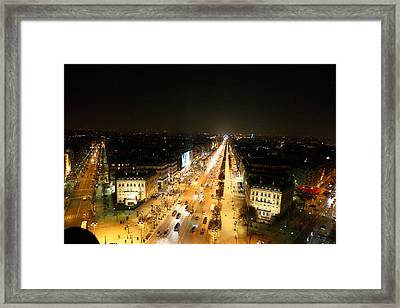 View From Arc De Triomphe - Paris France - 011319 Framed Print by DC Photographer