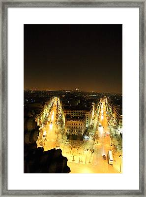 View From Arc De Triomphe - Paris France - 01132 Framed Print by DC Photographer