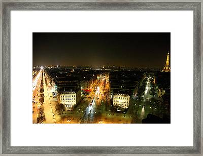 View From Arc De Triomphe - Paris France - 011320 Framed Print