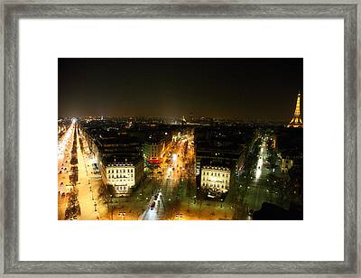 View From Arc De Triomphe - Paris France - 011321 Framed Print