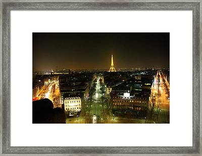 View From Arc De Triomphe - Paris France - 011323 Framed Print
