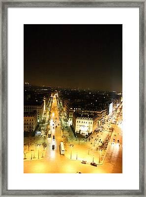 View From Arc De Triomphe - Paris France - 01134 Framed Print