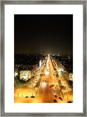 View From Arc De Triomphe - Paris France - 01135 Framed Print by DC Photographer