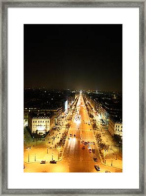 View From Arc De Triomphe - Paris France - 01136 Framed Print by DC Photographer
