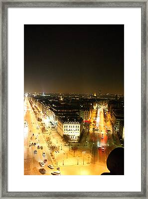 View From Arc De Triomphe - Paris France - 01137 Framed Print by DC Photographer