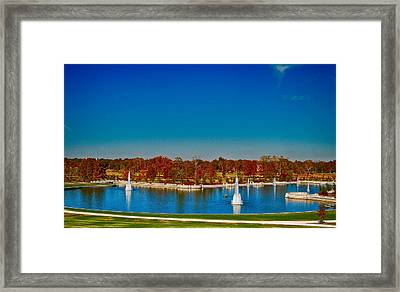 Framed Print featuring the photograph View From Art Hill Forest Park Missouri by Peggy Franz