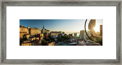 View From Ascensor Reina Victoria Framed Print