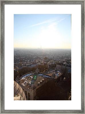 View From Basilica Of The Sacred Heart Of Paris - Sacre Coeur - Paris France - 011312 Framed Print by DC Photographer