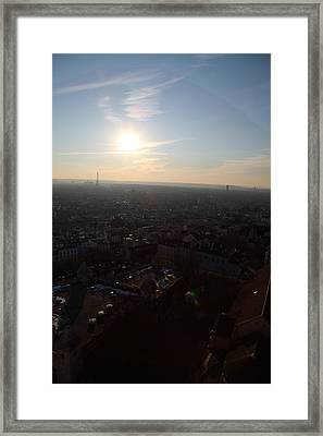 View From Basilica Of The Sacred Heart Of Paris - Sacre Coeur - Paris France - 011313 Framed Print by DC Photographer