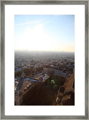 View From Basilica Of The Sacred Heart Of Paris - Sacre Coeur - Paris France - 011314 Framed Print by DC Photographer