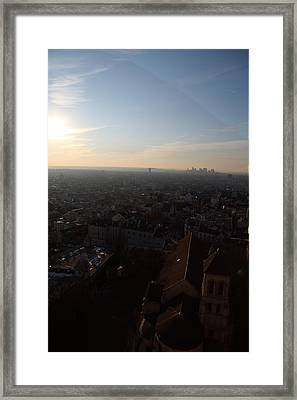 View From Basilica Of The Sacred Heart Of Paris - Sacre Coeur - Paris France - 011315 Framed Print by DC Photographer