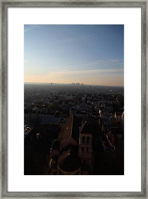 View From Basilica Of The Sacred Heart Of Paris - Sacre Coeur - Paris France - 011317 Framed Print by DC Photographer