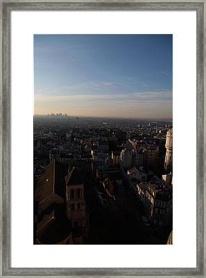 View From Basilica Of The Sacred Heart Of Paris - Sacre Coeur - Paris France - 011319 Framed Print by DC Photographer