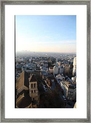 View From Basilica Of The Sacred Heart Of Paris - Sacre Coeur - Paris France - 011320 Framed Print by DC Photographer