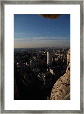 View From Basilica Of The Sacred Heart Of Paris - Sacre Coeur - Paris France - 011321 Framed Print