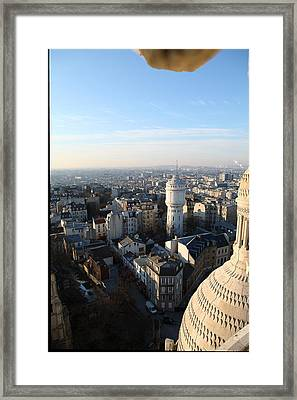 View From Basilica Of The Sacred Heart Of Paris - Sacre Coeur - Paris France - 011322 Framed Print by DC Photographer